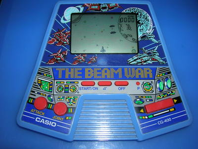 Casio Electronic Game cg-400 the beam war Nostalgic game console